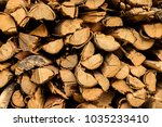 wood floors use firewood in the ... | Shutterstock . vector #1035233410
