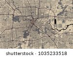 vector map of the city of... | Shutterstock .eps vector #1035233518
