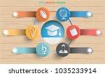 education info graphic design... | Shutterstock .eps vector #1035233914