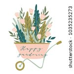 spring card with lettering  ... | Shutterstock .eps vector #1035235273