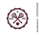 lacrosse vintage badge  emblem... | Shutterstock .eps vector #1035236368