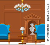 vip vintage interior furniture... | Shutterstock .eps vector #1035237136
