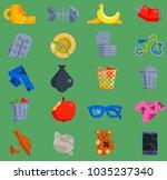 vector set of waste garbage... | Shutterstock .eps vector #1035237340