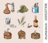 whiskey vector alcohol beverage ...   Shutterstock .eps vector #1035237358