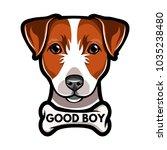 jack russell terrier dog face.... | Shutterstock .eps vector #1035238480