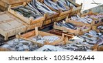 fresh fish on sale on the... | Shutterstock . vector #1035242644