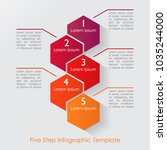 five step geometric infographic ... | Shutterstock .eps vector #1035244000