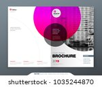 brochure template layout design.... | Shutterstock .eps vector #1035244870