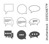 chat icon  dialog symbol. set.... | Shutterstock .eps vector #1035248779
