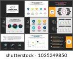 presentation templates elements ... | Shutterstock .eps vector #1035249850