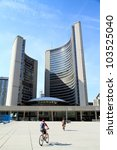 Stock photo toronto may nathan phillips square on may in toronto canada the square hosts 103525040