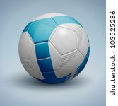 Blue Soccer Ball. Vector...