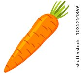 colorful cartoon carrot icon... | Shutterstock .eps vector #1035254869