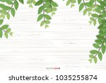 wood texture background with... | Shutterstock .eps vector #1035255874
