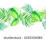 watercolor linear border  frame ... | Shutterstock . vector #1035256084