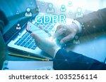 gdpr  general data protection... | Shutterstock . vector #1035256114