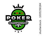poker championship logo  emblem ...   Shutterstock . vector #1035258184
