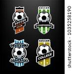 set of soccer football logo ...   Shutterstock . vector #1035258190