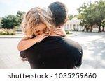 little girl resting on her... | Shutterstock . vector #1035259660