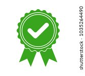 green icon approved or... | Shutterstock .eps vector #1035264490