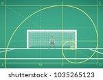 football   soccer goalkeeper... | Shutterstock .eps vector #1035265123