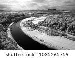 bend of the river elbe saxon... | Shutterstock . vector #1035265759