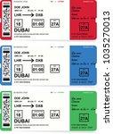 airline boarding pass tickets... | Shutterstock .eps vector #1035270013