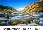 mountain river stream water... | Shutterstock . vector #1035270160