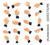 mens hand icons. male arm... | Shutterstock .eps vector #1035273298