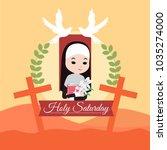 holy saturday illustration   Shutterstock .eps vector #1035274000
