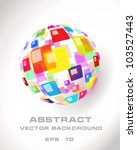abstract globe icon made from... | Shutterstock .eps vector #103527443