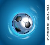 football in the blue shining... | Shutterstock .eps vector #103527566