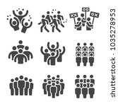 crowd group icon set | Shutterstock .eps vector #1035278953