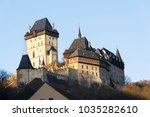 gothic castle karlstejn founded ... | Shutterstock . vector #1035282610