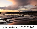 great fountain geyser in lower... | Shutterstock . vector #1035282943