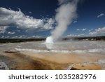 great fountain geyser in lower... | Shutterstock . vector #1035282976