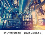 equipment  cables and piping as ... | Shutterstock . vector #1035285658