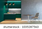 kitchen green minimalistic... | Shutterstock . vector #1035287563