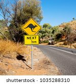 in australia  the sign for wild ... | Shutterstock . vector #1035288310