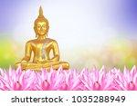 vesak day  buddhist lent day ... | Shutterstock . vector #1035288949