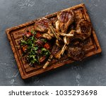 grilled lamb ribs with tomatoes ... | Shutterstock . vector #1035293698