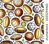 cartoon cute hand drawn sport... | Shutterstock .eps vector #1035294460