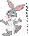 Stock vector cartoon rabbit isolated on white background 1035300910