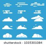cool vector flat cloud set....