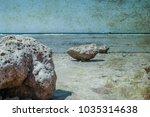 old photo beautiful seashore... | Shutterstock . vector #1035314638