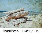 old photo beautiful seashore... | Shutterstock . vector #1035314644