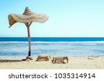 beautiful seashore vacation on... | Shutterstock . vector #1035314914
