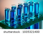 laboratory glass. test tubes... | Shutterstock . vector #1035321400