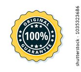 100  original guarantee label... | Shutterstock .eps vector #1035323686