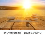 concept of stones harmony and... | Shutterstock . vector #1035324340